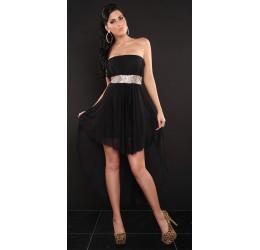 Stupendo abito nero asimmetrico con pailettes tg. 40/44