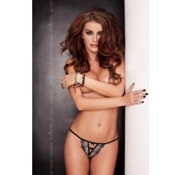 Sexy Tanga nero con fiocchetti 'Alison' Passion Lingerie