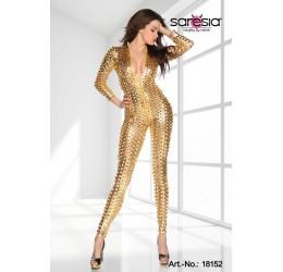 Sexy tuta oro in tessuto traforato tg. 40/44 da Saresia