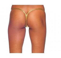 Sexy Perizoma V-string in lycra lucida color oro