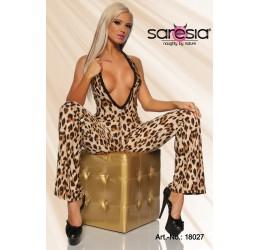 Stupenda Tuta overall leopardata con glitter
