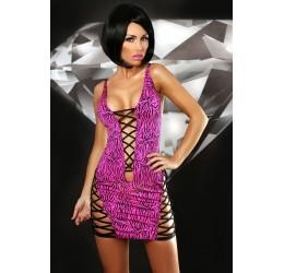 Mini abito stringato zebrato fuchsia 'Zebra dress'