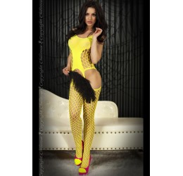 Sexy Catsuit Bodystocking gialla 'CR-3282' da Chilirose