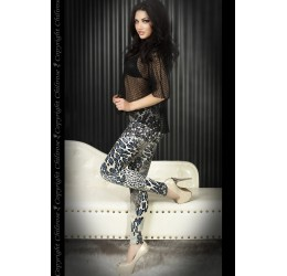 Leggings in fantasia animalier blu/nero by Chilirose