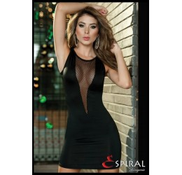 Sexy Mini abito nero con inserto in rete