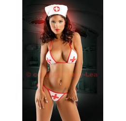Sexy completino costume da infermiera 3 pezzi
