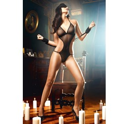 Sexy Set 'Love SLaves' Body, polsiere e mascherina, Baci Lingerie