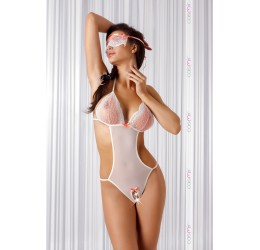 Sexy Body color crema/rosa con apertura e mascherina