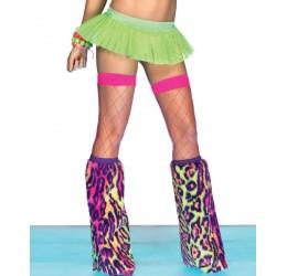 Sexy calze autoreggenti a rete rosa fuchsia da Leg Avenue
