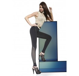 Sexy Leggings neri con inserti in microrete 'Holly' Bas Bleu