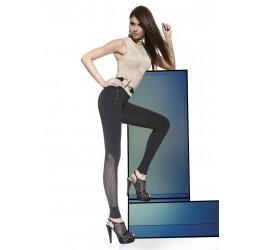 Sexy Leggings neri con inserti in microrete 'Holly' Bas Bleu