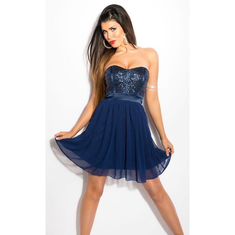purchase cheap cec93 5d746 Sexy Tubino blu con pailettes e tulle   Abiti Donna   Rosanerastore Color  Blue Size 38