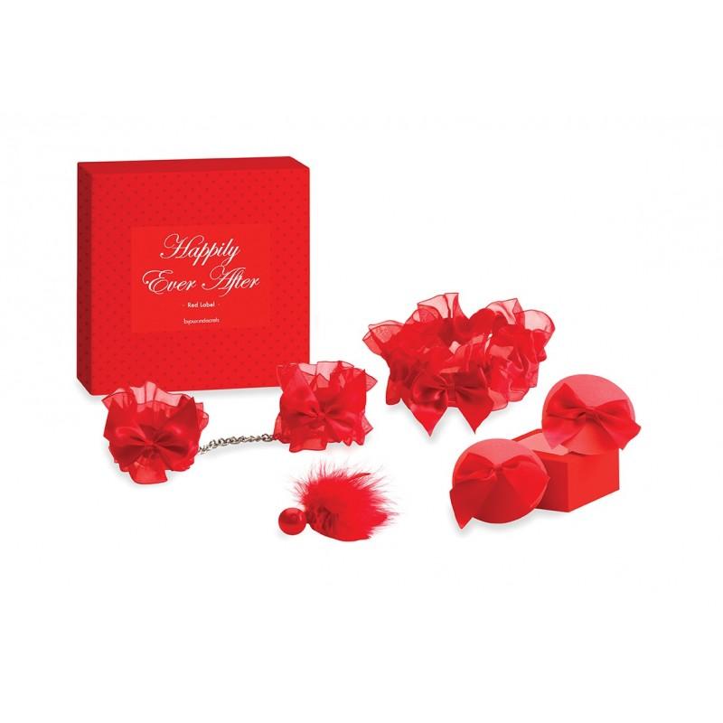 Confezione regalo intimo rosso 4 pezzi - Bijoux Indiscrets