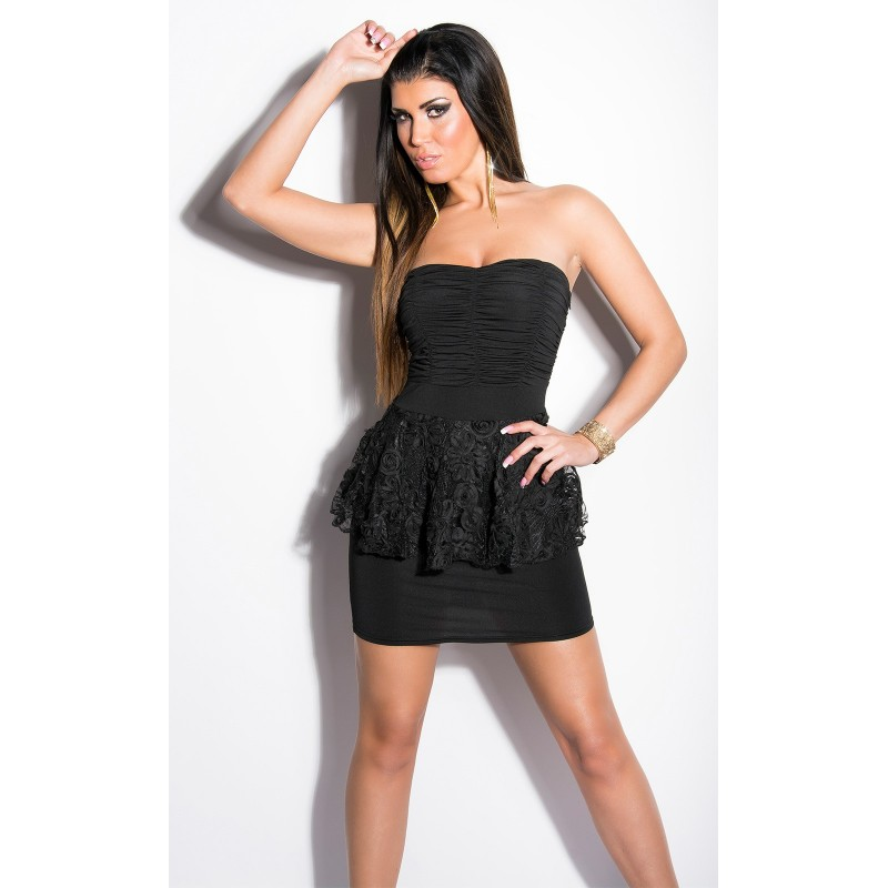 newest b00ea 4ff5b Sexy Tubino nero con inserto in pizzo taglia unica | Mini abiti |  Rosanerastore Color Nero Size Unica (dalla 38 alla 42)