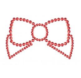 'Mimi bow' Gioiello adesivo rosso per il seno Bijoux Indiscrets