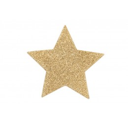 Copricapezzoli adesivi glitter oro 'Flash Star' Bijoux Indiscrets
