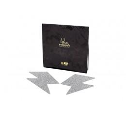 Copricapezzoli adesivi glitter argento 'Flash Bolt' Bijoux Indiscrets