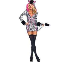 Sexy Costume da Zebra LA83986 da Leg Avenue