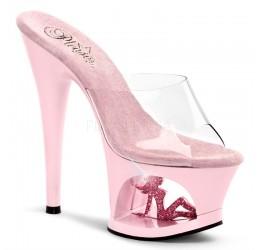 Sexy Sandali rosa con plateau da Pleaser