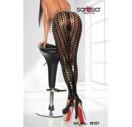 Sexy leggings neri in tessuto traforato tg. 38/42 da Saresia