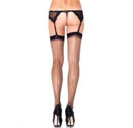 Sexy Calze per reggicalze velate con riga posteriore