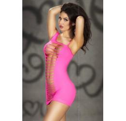 Sexy MINI ABITO rosa con aperture CHILIROSE