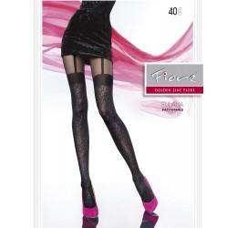 Sexy Collant neri 40 den 'Eulalia' Fiore Hosiery