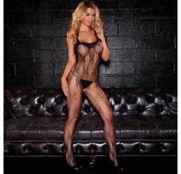 Sexy Bodystocking nera ricamata by Hustler