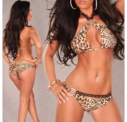 Sexy Bikini costume da bagno donna leopardato 2 pezzi