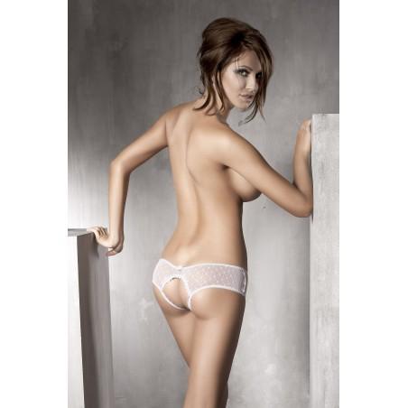 Sexy slip aperto bianco con fiocchetti 'Kitten' Anais Lingerie