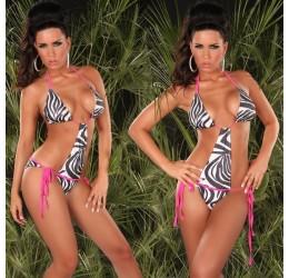 Monokini Costume da bagno donna intero zebrato taglie seconda/terza/quarta