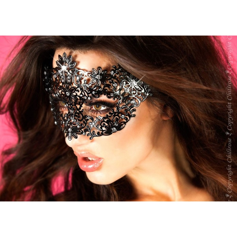 Maschera filigranata con strass, CR-3701 Chilirose
