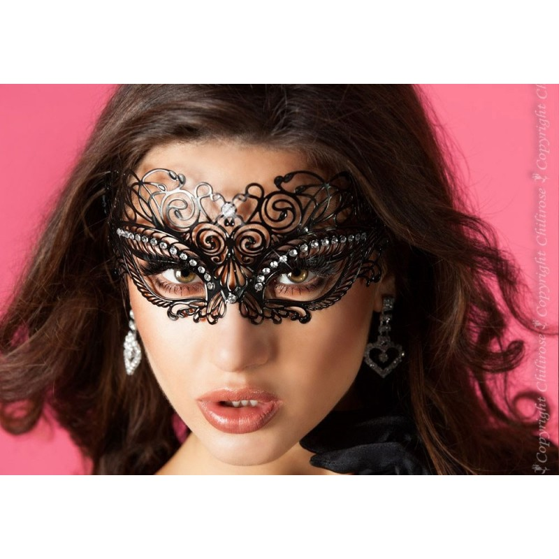Maschera filigranata con strass, CR-3706 Chilirose