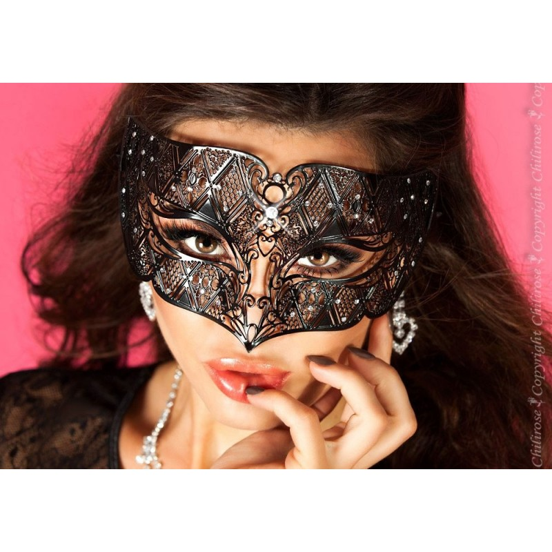 Maschera filigranata con strass, CR-3702 Chilirose
