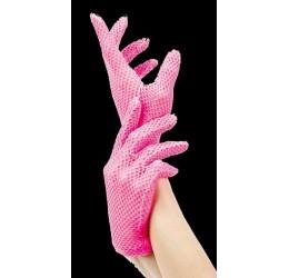 Sexy guanti corti in rete rosa fuchsia da Leg Avenue