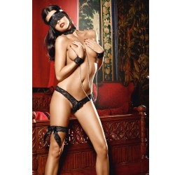 Provocantissimo Set 4 pezzi 'Love Slaves' by Baci Lingerie