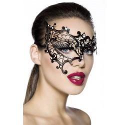 Sexy Maschera metallica filigranata decorata con strass