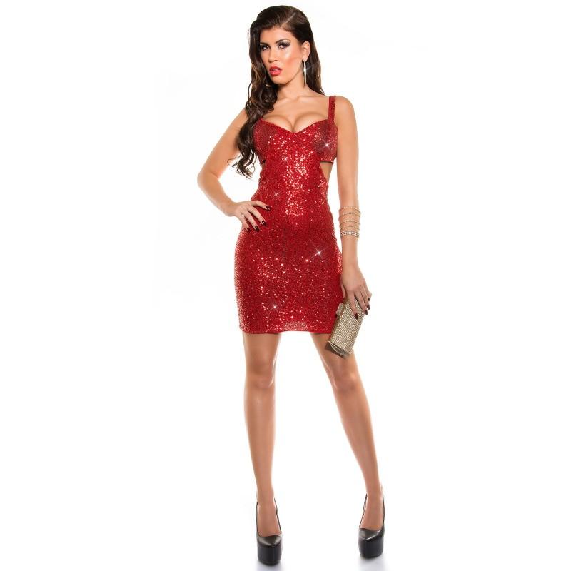 newest 97b50 20c54 Abito corto da sera rosso con pailettes taglia unica | Abiti da sera |  Rosanerastore Color Rosso Size Unica (dalla 40 alla 44)