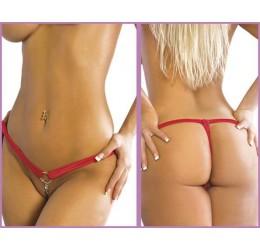 Perizoma Rosso aperto con gioiello da Body|Zone tg.38/44