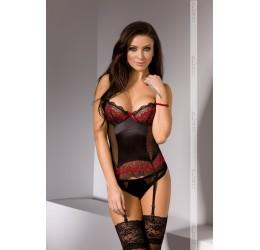 'Lanka corset' sexy Corsetto nero con reggicalze da Casmir Lingerie