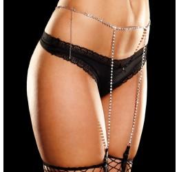 Sexy Cinturina in strass regolabile con reggicalze by Ann Devine