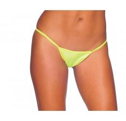 Sexy Perizoma giallo neon V-string in lycra da Bodyzone