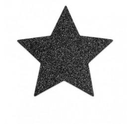 'Flash star' Copricapezzoli adesivi nero glitter Bijoux Indiscrets