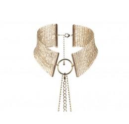 Collare in maglia metallica color oro con catenelle regolabili, Bijoux Indiscrets