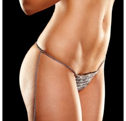 Sexy Perizoma in strass con catenella regolabile, Ann Devine
