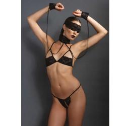 Sexy Completino nero 4 pezzi, KI4002, Kink by Leg Avenue
