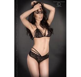 Sexy Completino in pizzo nero con stringhe, CR-3786 Chilirose