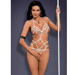 Sexy BODY bianco a stringhe Slave Obsessive Lingerie