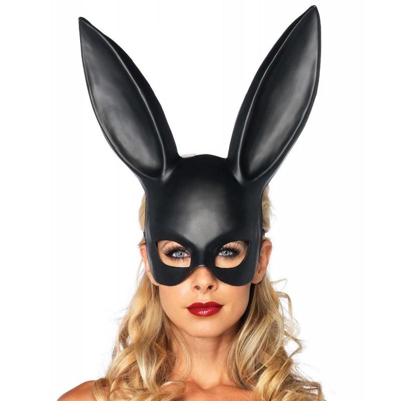 Maschera da coniglietta fetish disponibile Nera o Bianca, Leg Avenue