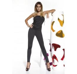 Completino nero in lycra elastica, Top a fascia e bodysuit 'Lily'